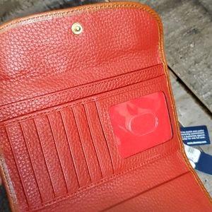 Dooney & Bourke Bags - Dooney and Bourke red pebble leather wallet new